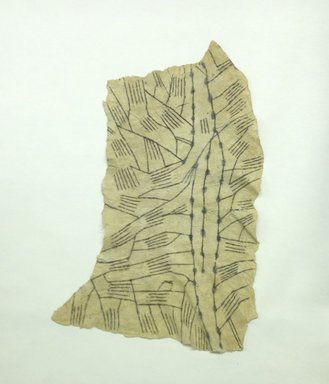 Mbuti Efe. <em>Loin Cloth</em>, 20th century. Bark cloth, pigment, 20 1/2 x 32 in.  (52.1 x 81.3 cm). Brooklyn Museum, Purchase gift of Beatrice Riese, 1997.19.3. Creative Commons-BY (Photo: Brooklyn Museum, CUR.1997.19.3.jpg)
