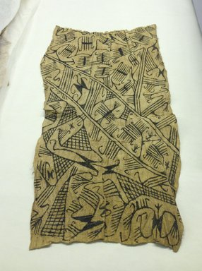 Mbuti Efe. <em>Loin Cloth</em>, 20th century. Bark cloth, pigment, 14 x 29 in.  (35.6 x 73.7 cm). Brooklyn Museum, Purchase gift of Beatrice Riese, 1997.19.6. Creative Commons-BY (Photo: Brooklyn Museum, CUR.1997.19.6.jpg)