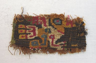 Wari. <em>Textile Fragment</em>, 500-800. Cotton, camelid fiber, 1 3/4 x 3 7/8 in. (4.4 x 9.8 cm). Brooklyn Museum, Gift of Dr. Bertram H. Schaffner, 1997.21. Creative Commons-BY (Photo: Brooklyn Museum, CUR.1997.21.jpg)