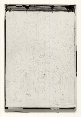 C. Halsey. <em>Sketchbook</em>, ca. 1879. Drawing: ink and graphite on cardboard with gilded edges