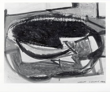 Vaclav Vytlacil (American, 1893-1984). <em>Untitled (Still Life)</em>. Monotype, Sight: 12 3/4 x 18 15/16 in.  (32.4 x 48.1 cm). Brooklyn Museum, Gift of the executors of the Estate of Vaclav Vytlacil, 1998.111.1. Creative Commons-BY (Photo: Brooklyn Museum, CUR.1998.111.1_view2.jpg)