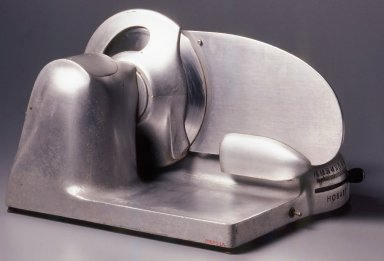 Egmont Arens (American, 1887-1966). <em>Meat Slicer</em>, ca. 1935. Steel, 12 1/2 x 17 x 20 1/2 in. (31.8 x 43.2 x 52.1 cm). Brooklyn Museum, Gift of Eva, Alan, and Louis Brill, 1998.143.3a-b. Creative Commons-BY (Photo: Brooklyn Museum, CUR.1998.143.3a-b_back.jpg)
