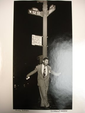 William P. Gottlieb (American, 1917-2006). <em>Dizzy on 52nd Street</em>, 1948. Toned gelatin silver photograph, image: 13 x 7 in.  (33.0 x 17.8 cm). Brooklyn Museum, Gift of the artist, 1998.167.3 (Photo: Brooklyn Museum, CUR.1998.167.3.jpg)
