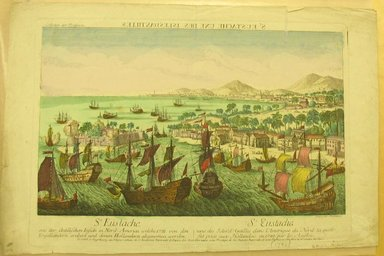 <em>St. Eustache, One of the Islands</em>, 1790. Hand-colored engraving, sheet: 12 13/16 x 19 5/16 in. (32.5 x 49.1 cm). Brooklyn Museum, Gift of Dr. Bertram H. Schaffner, 1998.193.4 (Photo: Brooklyn Museum, CUR.1998.193.4.jpg)