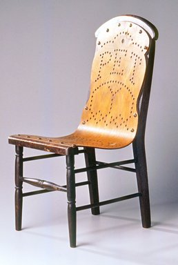 Gardner & Company (1863-1888). <em>Child's Chair</em>, Patented May 21, 1872. Wood, plywood, brass tacks, 18 1/8 x 8 5/8 x 10 in. (46.0 x 21.9 x 25.4 cm). Brooklyn Museum, Maria L. Emmons Fund, 1998.88. Creative Commons-BY (Photo: Brooklyn Museum, CUR.1998.88.jpg)