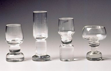 Gerald Gulotta (American, born 1921). <em>Cordial Glass</em>, Designed and made 1994. Lead Crystal, 4 1/2 x 1 1/2 in.  (11.4 x 3.8 cm). Brooklyn Museum, Gift of the artist, 1998.94.25. Creative Commons-BY (Photo: Brooklyn Museum, CUR.1998.94.25.jpg)