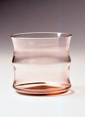 Gerald Gulotta (American, born 1921). <em>Glass, Chromatics Line</em>, Designed 1970; Made 1971-1973. Colored glass, 3 3/16 x 3 3/8 in.  (8.1 x 8.6 cm). Brooklyn Museum, Gift of the artist, 1998.94.54. Creative Commons-BY (Photo: Brooklyn Museum, CUR.1998.94.54.jpg)