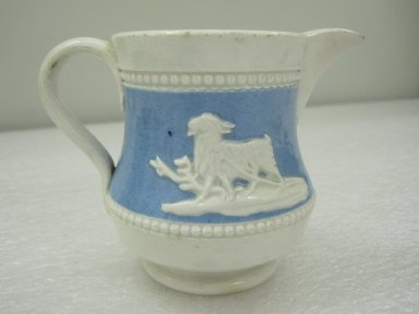 Joan Turner (British, 19th century). <em>Pitcher</em>, ca. 1840. Glazed stoneware, 3 1/2 x 4 1/2 x 3 in.  (8.9 x 11.4 x 7.6 cm). Brooklyn Museum, Gift of Jason and Susanna Berger, 1999.103.19. Creative Commons-BY (Photo: Brooklyn Museum, CUR.1999.103.19.jpg)