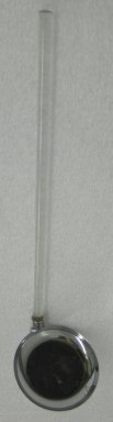 Russel Wright (American, 1904-1976). <em>Ladle, from a Five Piece Set of Serving Utensils</em>, ca. 1935. Stainless steel and Lucite, 1 1/2 x 13 x 3 1/2 in. (3.8 x 33 x 8.9 cm). Brooklyn Museum, Gift of Paul F. Walter, 1999.108.28. Creative Commons-BY (Photo: Brooklyn Museum, CUR.1999.108.28.jpg)