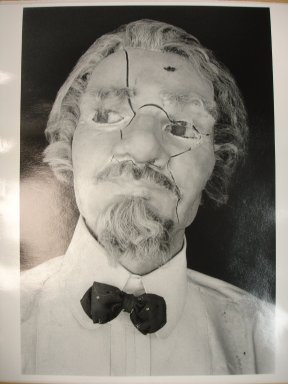 Richard S. Buswell, MD (American, born 1945). <em>Mannequin Head</em>, 1999. Gelatin silver photograph, image: 9 3/4 x 6 1/2 in. (24.8 x 16.5 cm). Brooklyn Museum, Gift of Richard S. Buswell, MD, 1999.125. © artist or artist's estate (Photo: Brooklyn Museum, CUR.1999.125.jpg)