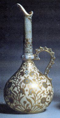 Royal Crown Derby Porcelain Co. (founded 1750). <em>Ewer</em>, 1888. Porcelain, 12 5/8 x 5 3/4 in. (32.1 x 14.6 cm). Brooklyn Museum, Gift of the Estate of Harold S. Keller, 1999.152.110. Creative Commons-BY (Photo: Brooklyn Museum, CUR.1999.152.110_print.jpg)