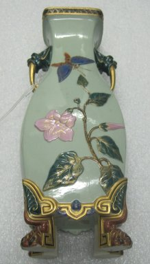 Worcester Royal Porcelain Co. (founded 1751). <em>Vase</em>, 1874. Porcelain, 14 1/8 x 5 3/4 x 4 1/2 in. (35.9 x 14.6 x 11.4 cm). Brooklyn Museum, Gift of the Estate of Harold S. Keller, 1999.152.203. Creative Commons-BY (Photo: Brooklyn Museum, CUR.1999.152.203.jpg)