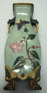 Worcester Royal Porcelain Co. (founded 1751). <em>Vase</em>, 1874. Porcelain, 14 1/8 x 5 3/4 x 4 1/2 in. (35.9 x 14.6 x 11.4 cm). Brooklyn Museum, Gift of the Estate of Harold S. Keller, 1999.152.204. Creative Commons-BY (Photo: Brooklyn Museum, CUR.1999.152.204.jpg)