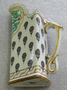 Worcester Royal Porcelain Co. (founded 1751). <em>Ewer</em>, 1883. Porcelain, 6 1/8 x 4 1/8 x 3 in. (15.6 x 10.5 x 7.6 cm). Brooklyn Museum, Gift of the Estate of Harold S. Keller, 1999.152.279. Creative Commons-BY (Photo: Brooklyn Museum, CUR.1999.152.279.jpg)