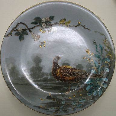 <em>Plate</em>, late 19th century. Porcelain, 7/8 x 9 1/8 x 9 1/8 in. (2.2 x 23.2 x 23.2 cm). Brooklyn Museum, Gift of the Estate of Harold S. Keller, 1999.152.294. Creative Commons-BY (Photo: Brooklyn Museum, CUR.1999.152.294.jpg)