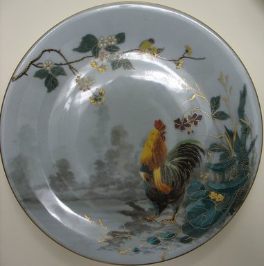 <em>Plate</em>, late 19th century. Porcelain, 7/8 x 9 1/8 x 9 1/8 in. (2.2 x 23.2 x 23.2 cm). Brooklyn Museum, Gift of the Estate of Harold S. Keller, 1999.152.297. Creative Commons-BY (Photo: Brooklyn Museum, CUR.1999.152.297.jpg)