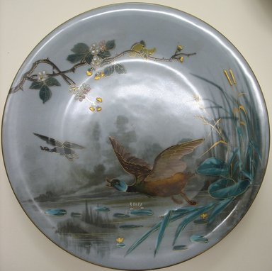 <em>Plate</em>, late 19th century. Porcelain, 7/8 x 9 1/8 x 9 1/8 in. (2.2 x 23.2 x 23.2 cm). Brooklyn Museum, Gift of the Estate of Harold S. Keller, 1999.152.298. Creative Commons-BY (Photo: Brooklyn Museum, CUR.1999.152.298.jpg)