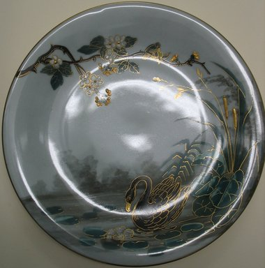 <em>Plate</em>, late 19th century. Porcelain, 7/8 x 9 1/8 x 9 1/8 in. (2.2 x 23.2 x 23.2 cm). Brooklyn Museum, Gift of the Estate of Harold S. Keller, 1999.152.301. Creative Commons-BY (Photo: Brooklyn Museum, CUR.1999.152.301.jpg)