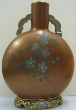 Worcester Royal Porcelain Co. (founded 1751). <em>Vase, Shape 6/202</em>, 1883. Porcelain, 11 1/2 x 8 1/2 x 4 1/2 in. (29.2 x 21.6 x 11.4 cm). Brooklyn Museum, Gift of the Estate of Harold S. Keller, 1999.152.304. Creative Commons-BY (Photo: Brooklyn Museum, CUR.1999.152.304_view2.jpg)
