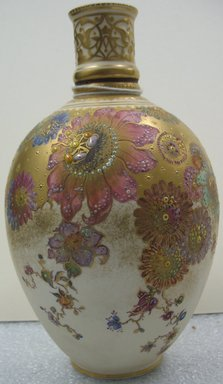Royal Crown Derby Porcelain Co. (founded 1750). <em>Vase</em>, ca. 1890. Porcelain, 7 5/8 x 4 5/8 x 4 5/8 in. (19.4 x 11.7 x 11.7 cm). Brooklyn Museum, Gift of the Estate of Harold S. Keller, 1999.152.323. Creative Commons-BY (Photo: Brooklyn Museum, CUR.1999.152.323.jpg)