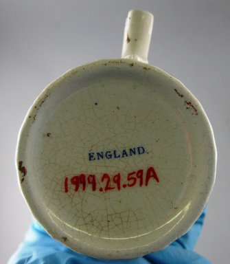 Burgess & Leigh Ltd. (1862-1999). <em>Cup and Saucer</em>, 1906-1912. Glazed earthenware, 3 x 5 3/4 x 14.1 in.  (7.6 x 14.6 x 35.8 cm). Brooklyn Museum, Gift of Paul F. Walter, 1999.29.59a-b. Creative Commons-BY (Photo: Brooklyn Museum, CUR.1999.29.59a_mark.jpg)