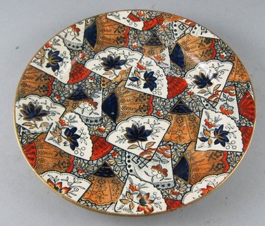 William Till (?). <em>Plate</em>, ca. 1880. Glazed earthenware, height: 7/8 in. (2.3 cm). Brooklyn Museum, Gift of Paul F. Walter, 1999.29.62. Creative Commons-BY (Photo: Brooklyn Museum, CUR.1999.29.62.jpg)
