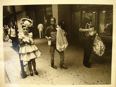 Michael Hanulak (American, 1937-2011). <em>Gay Pride</em>, 1995. Gelatin silver photograph, image: 9 x 13 in. (22.9 x 33 cm). Brooklyn Museum, Gift of the artist, 1999.38.1. © artist or artist's estate (Photo: Brooklyn Museum, CUR.1999.38.1.jpg)