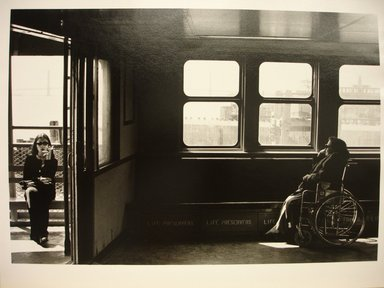 Michael Hanulak (American, 1937-2011). <em>Staten Island Ferry</em>, 1996. Gelatin silver photograph, image: 9 1/2 x 12 7/8 in. (24.1 x 32.7 cm). Brooklyn Museum, Gift of the artist, 1999.38.2. © artist or artist's estate (Photo: Brooklyn Museum, CUR.1999.38.2.jpg)