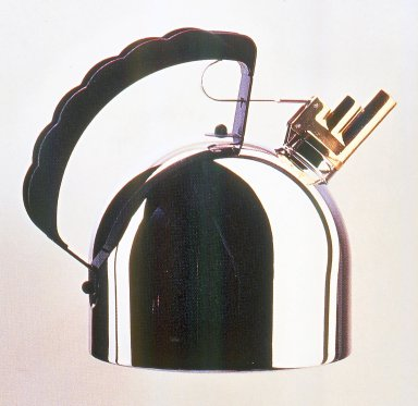 Richard Sapper (German, 1932-2016). <em>Kettle, Model 9091 FM</em>, Designed 1983. Copper, brass and polyamide, stainless steel., height: (24.0 cm); diameter: (20.0 cm). Brooklyn Museum, Gift of Alessi S.p.A., 1999.40.10. Creative Commons-BY (Photo: Brooklyn Museum, CUR.1999.40.10.jpg)
