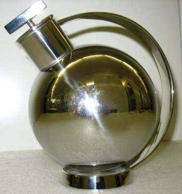 Attributed to Marianne Brandt (German, 1893-1983). <em>Cocktail Shaker, 'Anonimo,' Model 90021</em>, ca. 1925 (designed), made by Alessi since 1989. Stainless steel, height(18.0 cm); diameter: (13.8 cm). Brooklyn Museum, Gift of Alessi S.p.A., 1999.40.1a-b. Creative Commons-BY (Photo: Brooklyn Museum, CUR.1999.40.1a-b_view1.jpg)