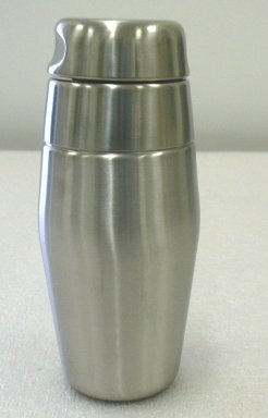 Luigi Massoni. <em>Cocktail Shaker</em>, Designed 1956. Stainless steel, height: (20.0 cm). Brooklyn Museum, Gift of Alessi S.p.A., 1999.40.7a-c. Creative Commons-BY (Photo: Brooklyn Museum, CUR.1999.40.7a-c.jpg)