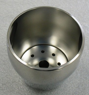Luigi Massoni. <em>Ice Bucket</em>, designed 1957. Stainless steel, 5 x 5 x 4 3/4 in. (12.7 x 12.7 x 12.1 cm). Brooklyn Museum, Gift of Alessi S.p.A., 1999.40.8a-b. Creative Commons-BY (Photo: Brooklyn Museum, CUR.1999.40.8a-b_view1.jpg)
