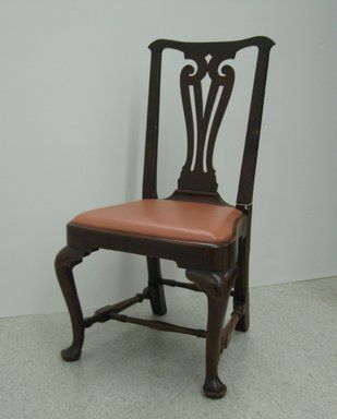 <em>Side Chair</em>, ca. 1740. Walnut, 38 3/8 in.  (97.5 cm). Brooklyn Museum, Purchase gift of Wunsch Foundation, Inc., 2000.17.1. Creative Commons-BY (Photo: Brooklyn Museum, CUR.2000.17.1.jpg)