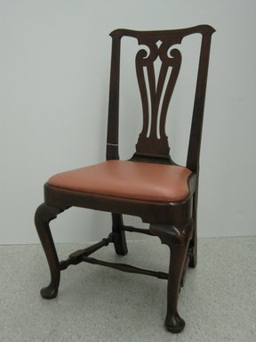 <em>Side Chair</em>, ca. 1740. Walnut, 38 3/8 in.  (97.5 cm). Brooklyn Museum, Purchase gift of Wunsch Foundation, Inc., 2000.17.4. Creative Commons-BY (Photo: Brooklyn Museum, CUR.2000.17.4.jpg)