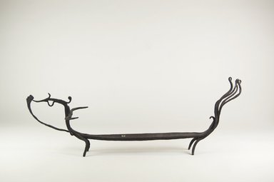 Lampungese. <em>Container for Tooth-blackening Paste  (Sihung)</em>, 19th century or earlier. Wrought Iron, 7 1/4 x 20 1/4 x 4 5/8 in. (18.4 x 51.4 x 11.7 cm). Brooklyn Museum, Bequest of Samuel Eilenberg , 2001.29.6. Creative Commons-BY (Photo: Brooklyn Museum, CUR.2001.29.6_side_PS5.jpg)