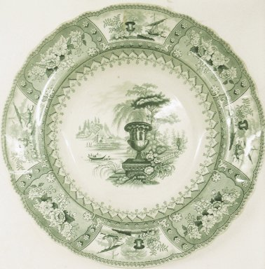 T. Mayer. <em>Bowl, Canova Pattern</em>, 1836-1838. Glazed earthenware, height: 1 5/8 in. (4.1 cm); diameter: 10 1/2 in. (26.7 cm). Brooklyn Museum, Gift of Paul F. Walter, 2001.55.13. Creative Commons-BY (Photo: Brooklyn Museum, CUR.2001.55.13.jpg)