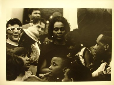 "LeRoy W. Henderson, Jr.. <em>[Untitled] (Mrs. Martin Luther King, with Her Children and Others, at the Lincoln Memorial. ""Solidarity Day"" of the Poor People's Campaign)</em>, 1968. Gelatin silver photograph, 14 x 11 in.  (35.6 x 27.9 cm). Brooklyn Museum, Gift of Georgia O'Keeffe and Gift of Wallace B. Putnam from the Estate of Consuelo Kanaga, by exchange, 2001.62.2. © artist or artist's estate (Photo: Brooklyn Museum, CUR.2001.62.2.jpg)"