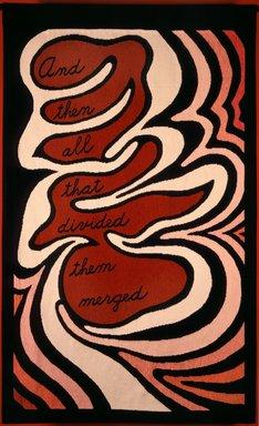 "Judy Chicago (American, born 1939). <em>Entry Banners</em>, 1974-1979. Cloth, 5' 6"" x 3' 6"" each. Brooklyn Museum, Gift of The Elizabeth A. Sackler Foundation, 2002.10-EB. © artist or artist's estate (Photo: Donald Woodman, CUR.2002.10-EB-5_Donald_Woodman_photograph_corrected.jpg)"