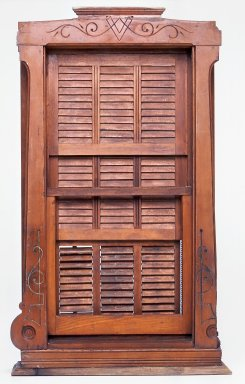<em>Window Sash and Shutters Salesman's Sample</em>, 1875-1885. Wood and metal, 22 5/8 x 13 5/8 x 4 1/2 in. (57.5 x 34.6 x 11.4 cm). Brooklyn Museum, Maria L. Emmons Fund, 2002.103. Creative Commons-BY (Photo: Brooklyn Museum, CUR.2002.103.jpg)
