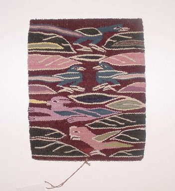 Pedro Ccarita Cusihuata (Quechua, Peruvian). <em>Tapestry Sampler (Tapiz)</em>, 2002. Sheep wool, synthetic dyes, 10 x 8 in. (25.4 x 20.3 cm). Brooklyn Museum, Frank Sherman Benson Fund, 2002.62.14. Creative Commons-BY (Photo: Brooklyn Museum, CUR.2002.62.14.jpg)