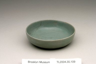 <em>Dish</em>, 11th-12th century. Stoneware with celadon glaze, Height: 1 1/4 in. (3.2 cm). Brooklyn Museum, The Peggy N. and Roger G. Gerry Collection, 2004.28.127. Creative Commons-BY (Photo: Brooklyn Museum (in collaboration with National Research Institute of Cultural Heritage, , CUR.2004.28.127_view1_Heon-Kang_photo_NRICH.jpg)