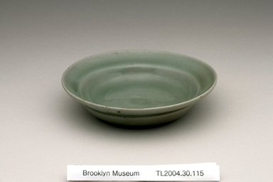 <em>Dish</em>, 12th century. Stoneware with celadon glaze, Height: 1 1/4 in. (3.2 cm). Brooklyn Museum, The Peggy N. and Roger G. Gerry Collection, 2004.28.133. Creative Commons-BY (Photo: Brooklyn Museum (in collaboration with National Research Institute of Cultural Heritage, , CUR.2004.28.133_view1_Heon-Kang_photo_NRICH.jpg)