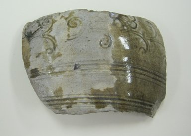 <em>Shard</em>. Stoneware with glaze, height x width x length x thickness: 1 x 3 11/16 x 2 9/16 x 3/8 in. (2.5 x 9.4 x 6.5 x 1 cm). Brooklyn Museum, The Peggy N. and Roger G. Gerry Collection, 2004.28.174. Creative Commons-BY (Photo: Brooklyn Museum, CUR.2004.28.174_view1.jpg)