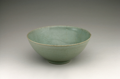 <em>Bowl</em>, first half 12th century. Stoneware with celadon glaze, Height: 2 7/8 in. (7.3 cm). Brooklyn Museum, The Peggy N. and Roger G. Gerry Collection, 2004.28.245. Creative Commons-BY (Photo: Brooklyn Museum (in collaboration with National Research Institute of Cultural Heritage, , CUR.2004.28.245_view1_Heon-Kang_photo_NRICH_edited.jpg)