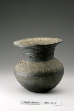 <em>Jar</em>, 5th century. Stoneware, 6 3/4 x 6 5/16 in. (17.1 x 16 cm). Brooklyn Museum, The Peggy N. and Roger G. Gerry Collection, 2004.28.46. Creative Commons-BY (Photo: Brooklyn Museum (in collaboration with National Research Institute of Cultural Heritage, , CUR.2004.28.46_Heon-Kang_photo_NRICH.jpg)
