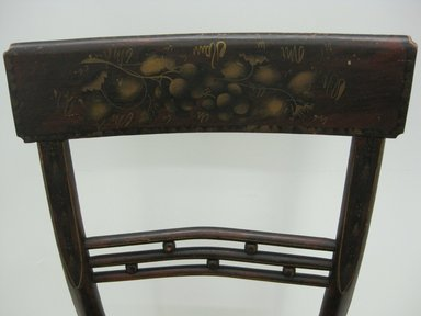 <em>Side Chair</em>, 19th century. Wood, rush, paint, 33 x 17 3/4 x 20 3/8 in. (83.8 x 45.1 x 51.8 cm). Brooklyn Museum, Bequest of Elisabeth Sloan Livingston, 2004.35.5. Creative Commons-BY (Photo: Brooklyn Museum, CUR.2004.35.5_detail.jpg)