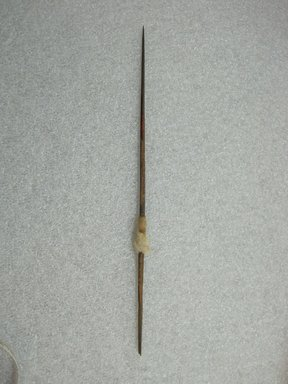 Possibly Chimú. <em>Spindle Wrapped with Thread</em>, 1100-1450. Wood, cotton, 9 3/4 × 1/4 × 3/16 in. (24.8 × 0.6 × 0.5 cm). Brooklyn Museum, Gift of Victor P. Nunez, 2004.53.42. Creative Commons-BY (Photo: , CUR.2004.53.42_view01.jpg)