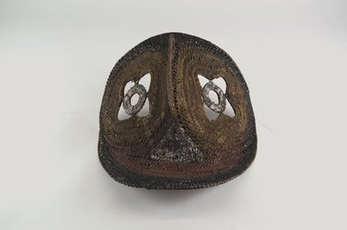 Abelam. <em>Yam Mask</em>, mid-20th century. Rattan, pigment, 8 3/4 x 8 3/4 x 5 1/4 in. (22.2 x 22.2 x 13.3 cm). Brooklyn Museum, Gift of Dr. K. David G. Edwards from the David and Margery Edwards Collection, 2004.74.3. Creative Commons-BY (Photo: Brooklyn Museum, CUR.2004.74.3_front_PS5.jpg)