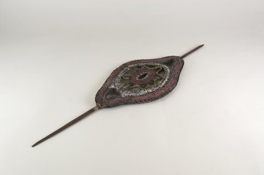 Abelam. <em>Dance Wand</em>, 20th century. Wood, vegetable fiber (probably rattan), pigment, 18 3/4 x 5 3/4 x 1/2 in. (47.6 x 14.6 x 1.3 cm). Brooklyn Museum, Gift of Dr. K. David G. Edwards from the David and Margery Edwards Collection, 2004.74.5. Creative Commons-BY (Photo: Brooklyn Museum, CUR.2004.74.5_PS5.jpg)