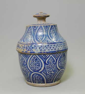 <em>Butter Jar</em>, 19th century. Earthenware, Approx H.: 12 in. (30.5 cm). Brooklyn Museum, Gift of Dr. Charles S. Grippi in memory of Professor Virgil H. Bird